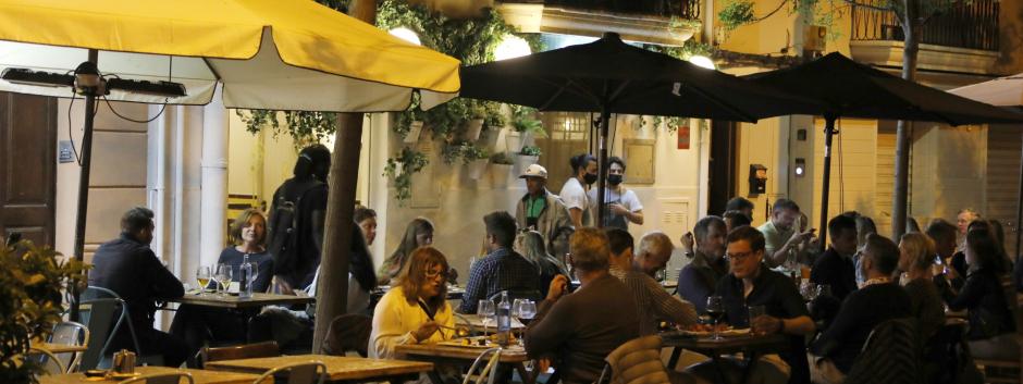 Terrazas de los bares en Palma de Mallorca