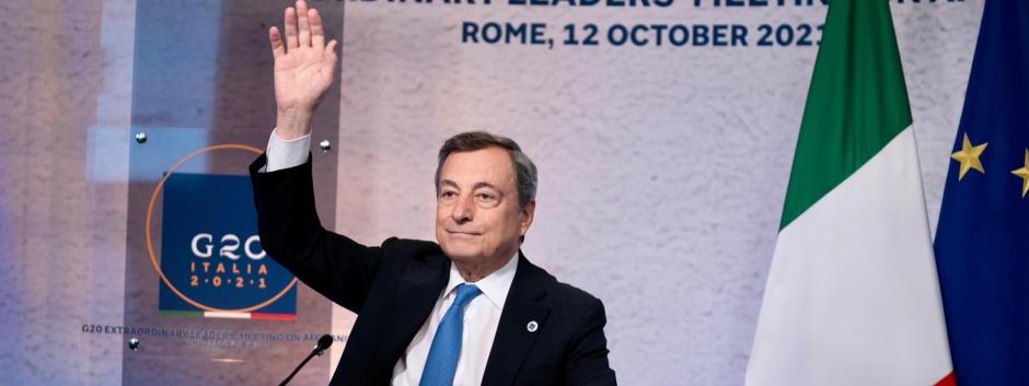 El líder del Gobierno italiano, Mario Draghi