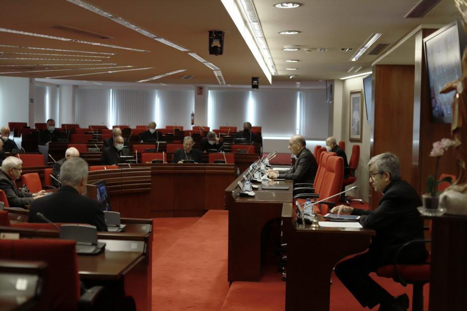 Imagen del hemiciclo en el que los obispos españoles se citan cada año en las Comisiones Permanentes y Asambleas Plenarias