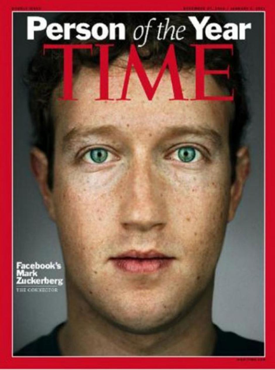 Mark Zuckerberg también fue la imagen de Time en 2010