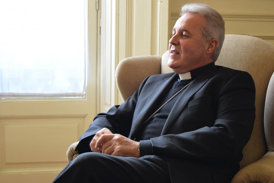 Mario Iceta desde el palacio episcopal de Burgos