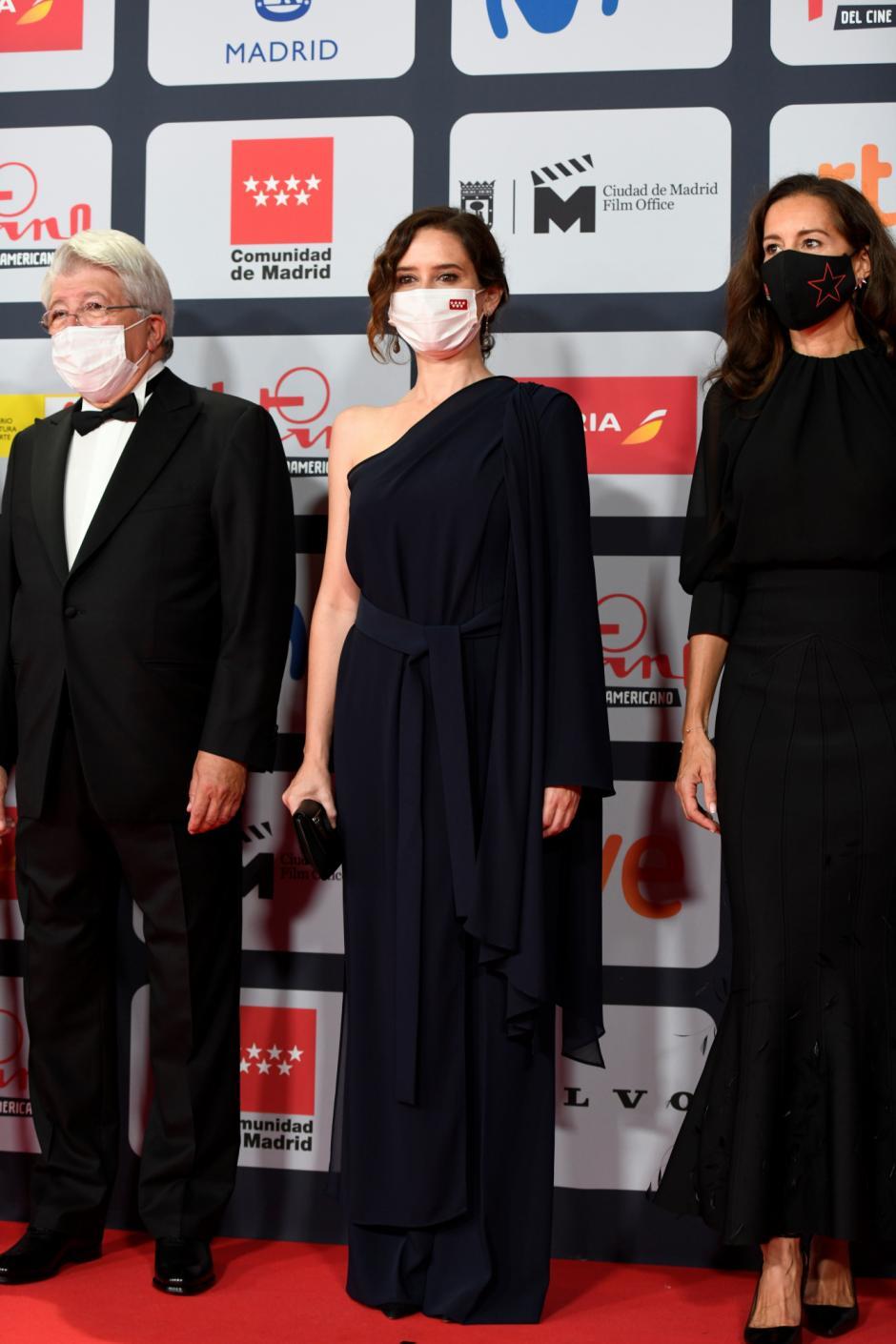 Díaz Ayuso, en la entrega de los Premios Platino