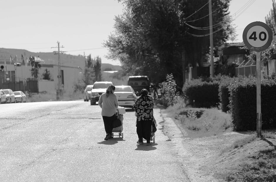 Las dos mujeres que alertaron de nuestra presencia en la Cañada Real