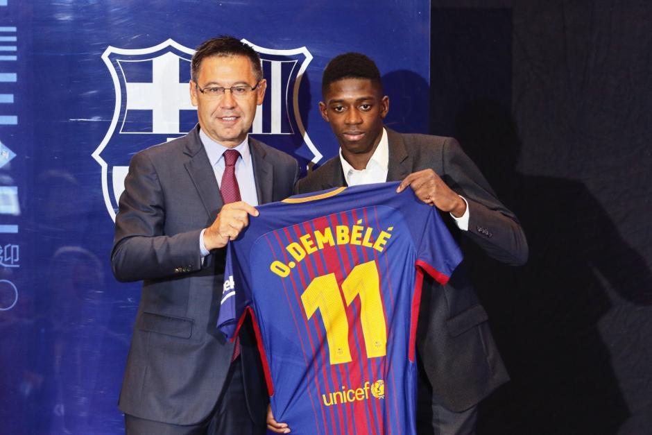 Ousmane Démbélé aún no ha despuntado desde que lo fichara Bartomeu