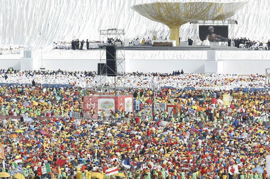 Imagen de la misa de clausura de la JMJ de Madrid