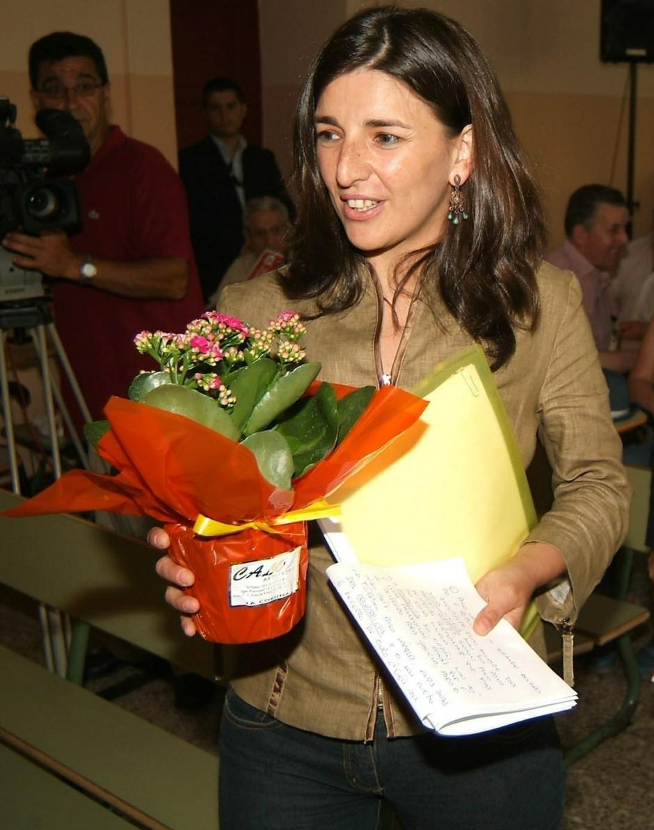 Yolanda Díaz, en 2005, cuando fue candidata por IU a la Xunta de Galicia