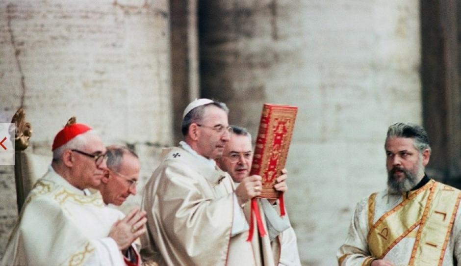 Juan Pablo I durante la misa del 3 de septiembre de 1978